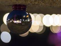 La sfera di cristallo Bokeh, dentro è Bokeh Immagini Stock Libere da Diritti