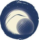 La sfera di golf sola Fotografia Stock Libera da Diritti