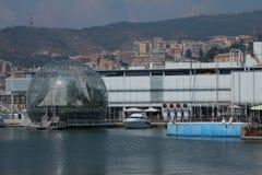 La sfera di Renzo Piano al porto di Genova Fotografie Stock