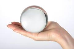 La sfera di vetro trasparente Fotografie Stock