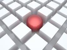 La sfera fra i cubi Immagini Stock Libere da Diritti