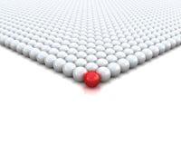 La sfera rossa 3d rende l'illustrazione Fotografia Stock Libera da Diritti