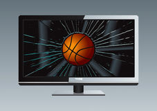 La sfera rotta TV dell'affissione a cristalli liquidi ha impostato 3 Fotografie Stock Libere da Diritti