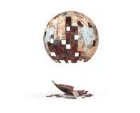 La sfera volante arrugginita Immagine Stock