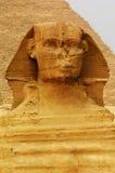 La Sfinge e le piramidi Fotografie Stock