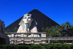 La Sfinge sull'hotel di Luxor ha frantumato a Las Vegas Immagine Stock Libera da Diritti
