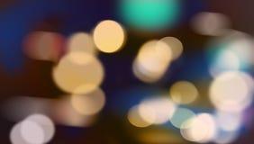 La sfuocatura illumina la priorità bassa Fotografia Stock Libera da Diritti