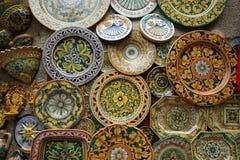 La Sicile, Italie. Souvenirs traditionnels de Photographie stock