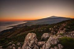 La Sicile, l'Etna image libre de droits
