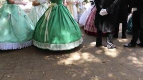 La Sicilia/Italia 9 giugno 2019: balli in costume del XVIII secolo archivi video