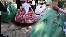 La Sicilia/Italia 9 giugno 2019: balli in costume del XVIII secolo stock footage