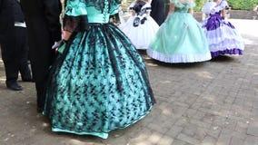 La Sicilia/Italia 9 giugno 2019: balli in costume del XVIII secolo video d archivio