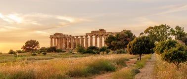 La Sicilia, Italia: il tempio di Era a Selinunte Fotografia Stock