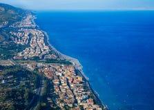 La Sicilia, panorama Fotografie Stock Libere da Diritti