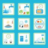 La sicurezza alimentare governa Infographics Abitudini alimentari sane Fotografia Stock Libera da Diritti
