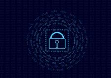 La sicurezza astratta cifra la raccolta di concetto e di messaggio di dati Fotografie Stock Libere da Diritti