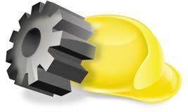 La sicurezza dei lavoratori, casco Fotografia Stock