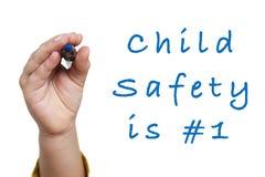 La sicurezza del bambino è numero 1 Immagine Stock