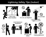 La sicurezza dell'interno di tuono del fulmine fornisce di punta il clipart Fotografia Stock Libera da Diritti