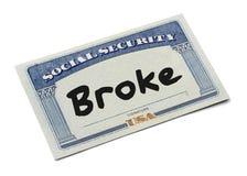 La sicurezza sociale si è rotta Immagine Stock