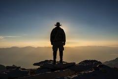 La Sierra Nevada, toppmöte för El Jefe de av Mt Whitney Arkivbild