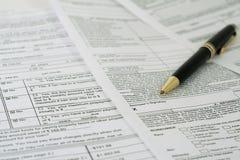 La signature de l'emprunteur Image libre de droits
