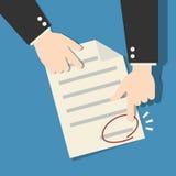 La signature signent le document sur papier de contrat Illustration Stock