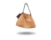 La signora di borsa marrone Fotografie Stock Libere da Diritti