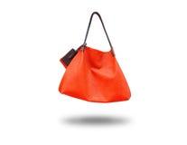 La signora di borsa rossa Fotografia Stock Libera da Diritti