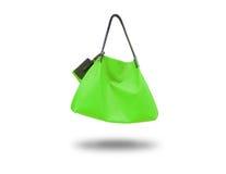 La signora di borsa verde Immagini Stock