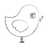 la silhouette chiken l'icône animale Images libres de droits