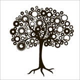 La silhouette d'un arbre Photographie stock libre de droits