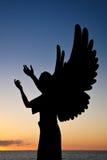 La silhouette de l'ange Photographie stock