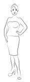 La silhouette de la femme illustration de vecteur