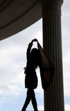 La silhouette de la fille Photographie stock libre de droits