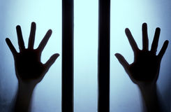 La silhouette de la main Photos libres de droits