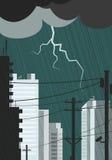 La silhouette de la ville Photo libre de droits