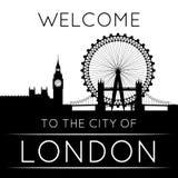 La silhouette de Londres Images libres de droits
