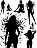 La silhouette des femmes Image stock