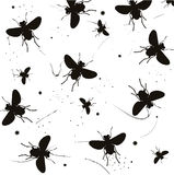 La silhouette des insectes illustration stock