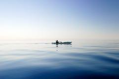 La silhouette du bateau Photo libre de droits