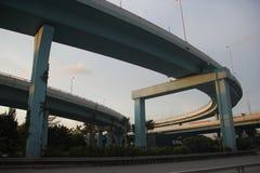 La silhouette du viaduc Photo stock