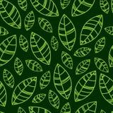 La silhouette verte part de l'illustration Configuration sans joint Ornement pour la copie, carte, papier peint, bannière illustration libre de droits