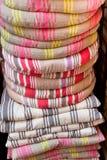 La silla de lino soporta la pila Imágenes de archivo libres de regalías
