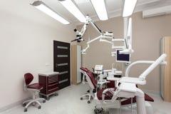 La silla del dentista Fotografía de archivo libre de regalías