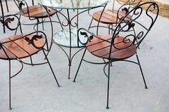 La silla del hierro se relaja en parque Fotografía de archivo libre de regalías
