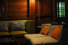 La silla en cafetería Imagen de archivo