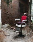 La silla roja Fotos de archivo libres de regalías