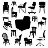 La silla Vectors sistemas Imágenes de archivo libres de regalías