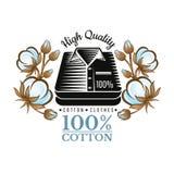 La silueta apiló las camisas en medio del modelo de las plantas de algodón del color Logotipo para la materia textil, la tela, el libre illustration